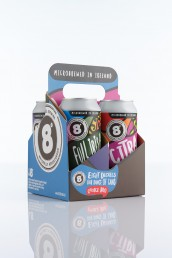 Packshot of an 8 degrees brewing carrier pack