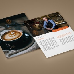 Findlater & Co Coffee brochure Inserts - Private Blends