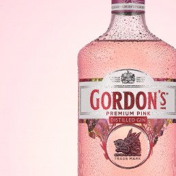 Styled Gordons Gin Bottle Product Photography
